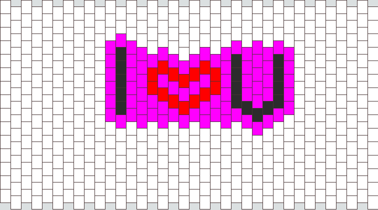 I Heart U Necklace Patterns Bead Pattern