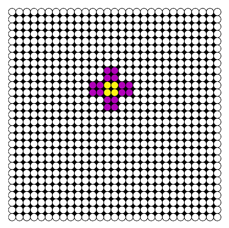 Simple Flower Perler Bead Pattern / Bead Sprite