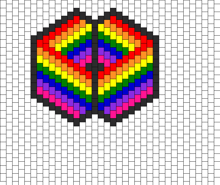 Rainbow Fold Mask Bead Pattern