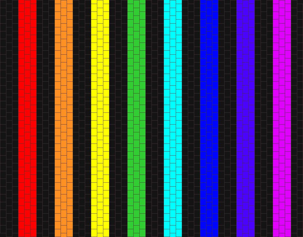 Simple black and rainbow