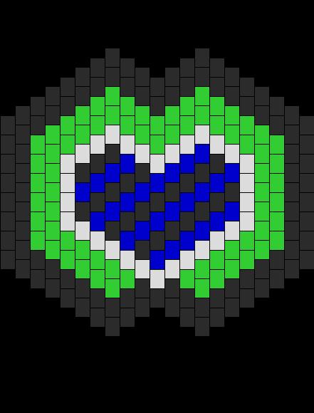 Heart Mask Bead Pattern
