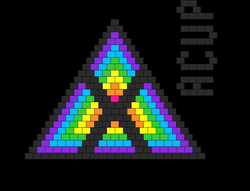 Rainbow Bikini Top V 2