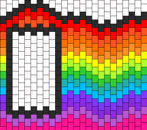 Rainbow Wave Ipod Touch Case Bead Pattern