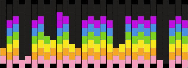 Rainbow With Black Drip