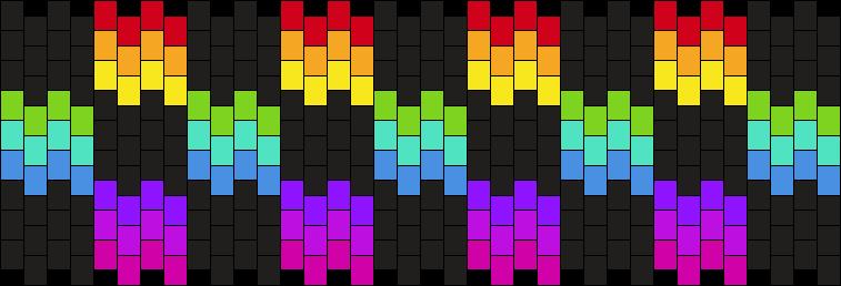 Rainbow Checker Cuff