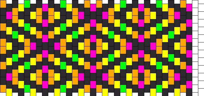 Neon Diamonds 2 Kandi Pattern