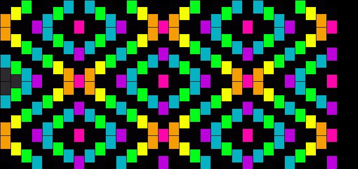 Rainbow Diamonds 2 Kandi Pattern