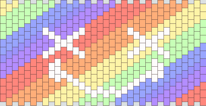 X Smile Diagonal Pastel Rainbow