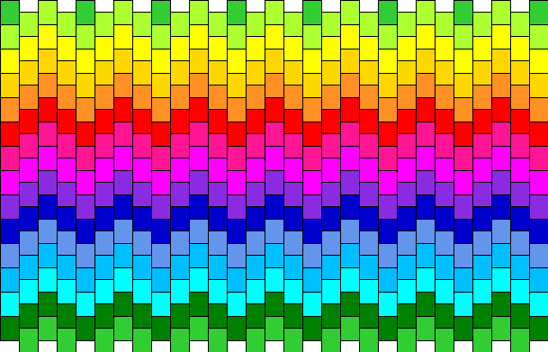 Colourful Zigzag Pony Bead Patterns | Simple Kandi