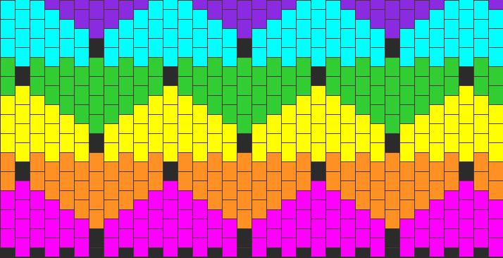 Rainbow Kandi Pattern