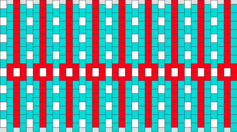 Red White And Blue Kandi Pattern