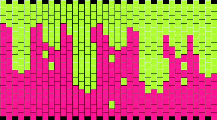 Green Slime Kandi Pattern