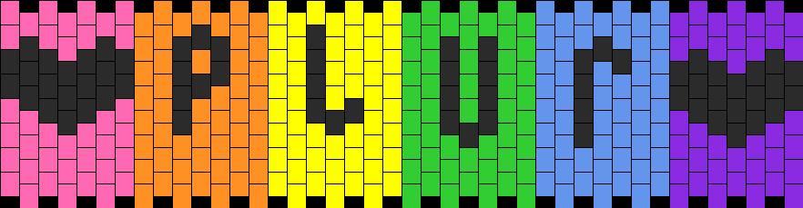 Rainbow Plur Hearts Kandi Pattern