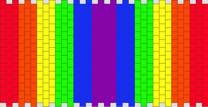 Double rainbow cuff