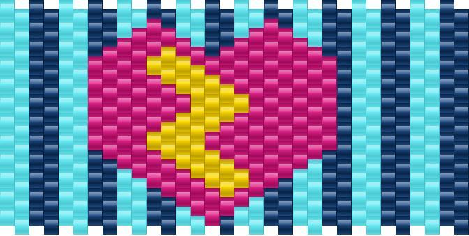 Heart And Lighning Bolt Kandi Pattern