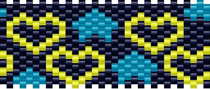 Hearts And Stars Kandi Pattern