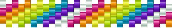 Rainbow For Smaller Wrists Kandi Pattern