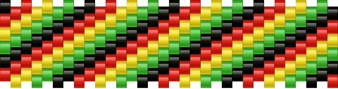 Rasta Stripes Kandi Pattern