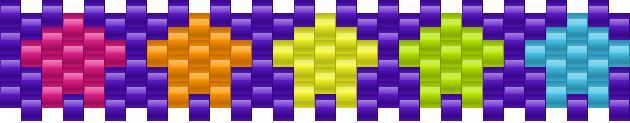 Small Row Of Stars Kandi Pattern