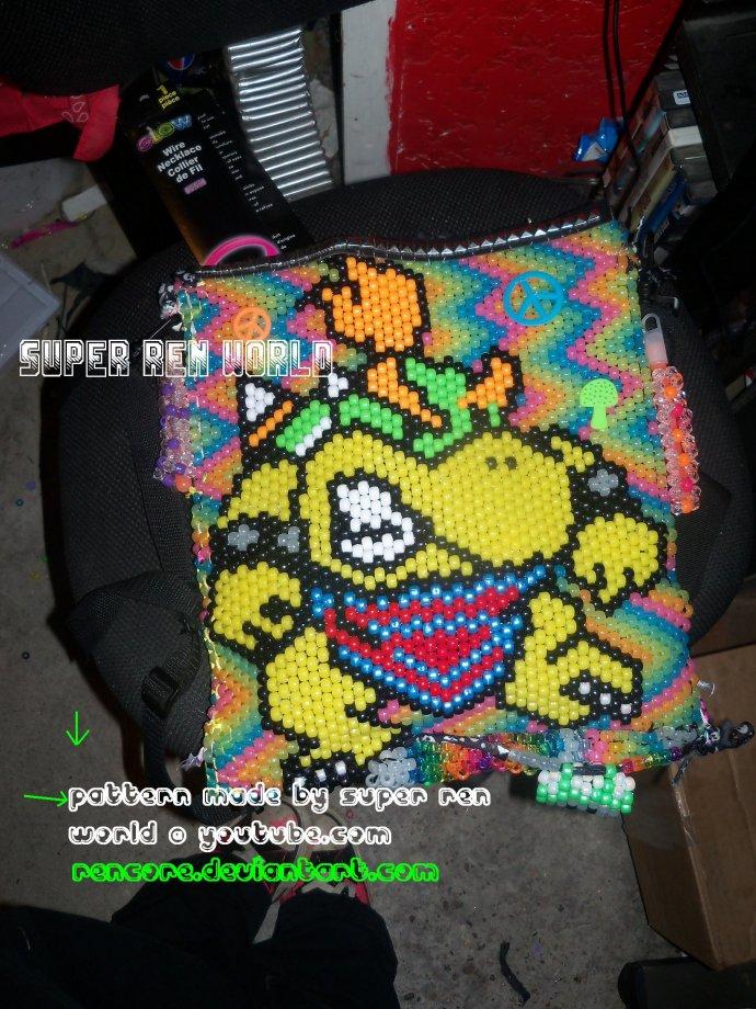 Bowser jr backpack w glow stick pockets by superrenworld kandi description dt1010fo