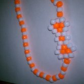 Orange And White Choker