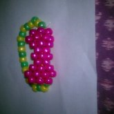 Pink Yellow And Green Bow Bracelet