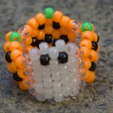 Halloween Ghost In The Pumpkin Patch Peyote Stitch