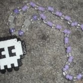 Skull Perler On A Necklace
