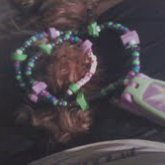 Tinkerbell Kandi Necklace(: