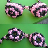 Kandi Pink/black Goggles