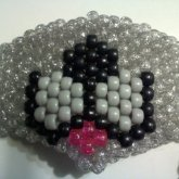 Silver Glitter Kitty Kandi Mask