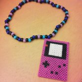 Purple Gameboy Necklace