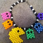 Pacman & Ghost Necklace