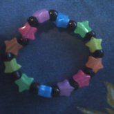 Black And Rainbow Star Kandi