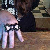 Peyote Stitch Kandi Bow Ring:3