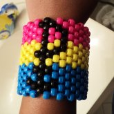 Pansexual Pride Cuff