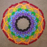 Giant Rainbow Disk Cuff