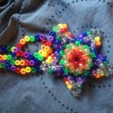 Large Rainbow 3D Star Necklace