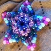Large BluePurple 3D Star