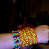 Candy Corn Looking Jester Cuff