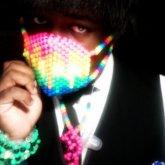 Melting Rainbow Kandi Mask