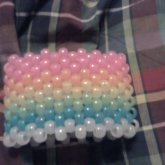 Rainbow Glow In The Dark Kandi Cuff
