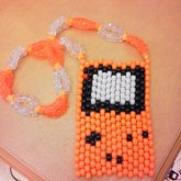 Orange Gameboy Necklace