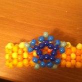 Orange Cuff With Blue Staar