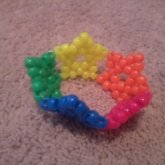 Neon Rainbow Star Cuff