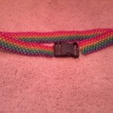Rainbow Peyote Belt