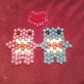 Pink And Blue Domo <3