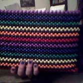 Rainbow Kandi Purse:)