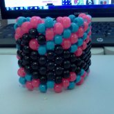 Blue And Pink Mustache Cuff