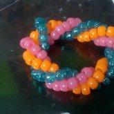 Blue, Pink, & Orange Twist Kandi